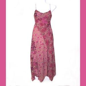 Positive Attitude Maxi Dress Pink Leopard & Floral